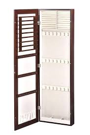 wall mounted jewelry armoire wall mounted jewelry with mirror 45 inch wall mounted lighted jewelry armoire