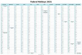 Federal holidays 2021 calendar and dates for the united states and more. Pin On 2021 Calendar Printable