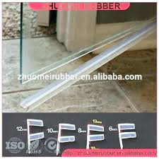 how to replace glass shower door bottom seal shower door trim replacement glass shower door seal