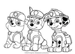 Chase Paw Patrol Coloring Page At Getdrawingscom Free For