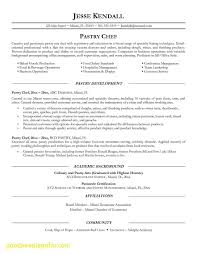 Pastry Chef Resume Elegant Chef Resume Sample Examples Sous Chef