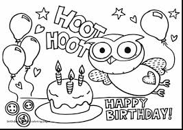 Happy Birthday Coloring Pages Printable Beautiful Birthday Printable