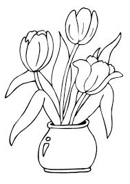 Coloriage De Belles Tulipes