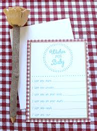 5 DIY Projects for a Baby-Q -- Wishes for Baby Card