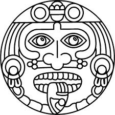 Small Picture Coloring Book Aztec Sun Fiesta Mexicana Cinco de Mayo