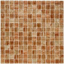 merola tile coppa tan gold 12 in x 12 in x 4 mm glass