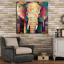 handmade animals oil painting hang wall paintings modern abstract elephant paintings impression canvas painting for room decor