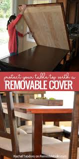 removable planked table top cover
