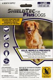 Designed 4 Dogs Shieldtec Plus Flea Tick Treatment For Dogs 66 Lbs And Up