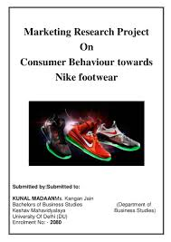 marketing research project on nike shoes