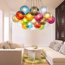 glass ball lighting. Blown Multi Colored Glass Ball Chandelier Pendant Light Lighting
