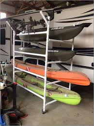 canoe storage rack garage prettier homemade pvc kayak rack can 4 kayaks paddles of 63