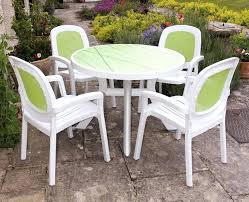 White Resin Wicker Outdoor Furniture
