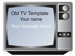 tv powerpoint templates old fashioned television set template