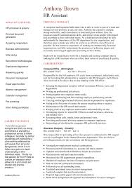 Human Resources Assistant Resume Examples 6 Formats And Cv Examples For Human Resource Jobs
