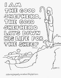 Small Picture I am the Good Shepherd coloring page see more at my blog http