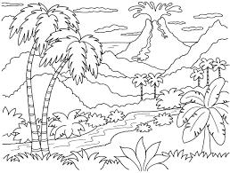 89+ Mẫu tranh tô màu phong cảnh làng quê cho bé sáng tạo