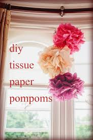 How To Make Tissue Paper Balls Decorations Extraordinary DIY Tissue Paper Pom Poms