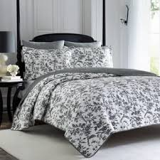 Size Queen Quilts & Bedspreads For Less | Overstock.com & Laura Ashley Amberley Grey Cotton 3-piece Quilt Set Adamdwight.com
