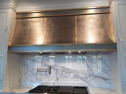 Steel Custom Range Hoods With Brass Accent For Kitchen Decoration Ideas