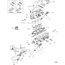 Genuine mercury mercruiser parts exhaust manifold