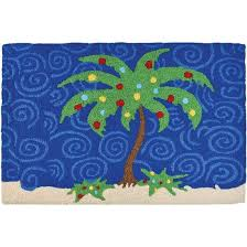 holiday palm tree jellybean coast holiday accent rug