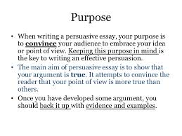 the persuasive essay breaking it down word of the day vacation vs  purpose when writing a persuasive essay your purpose is to convince your audience to embrace