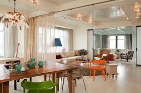 designs ideas open floor plan decor with modern living room and modern dining area between