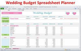 Wedding Plan Excel Template