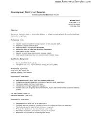 Electrician Apprentice Resume Compatible Imagine Samples For