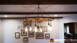 diy wagon wheel chandelier with mason jars jar small downlights how