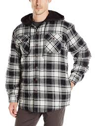 Wrangler Men's Long Sleeve Quilted Lined Flannel Shirt Jacket With ... & Wrangler Men's Long Sleeve Quilted Lined Flannel Shirt Jacket With Hood at  Amazon Men's Clothing store: Adamdwight.com