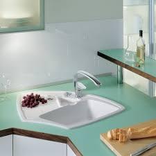 Astounding Kitchen Decoration Ideas Using Corner Kitchen Sinks : Incredible  Kitchen Decoration Using White Ceramic Corner