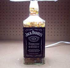 How To Decorate Empty Liquor Bottles How to Turn an Empty Jack Daniels Bottle Into a Lamp 9
