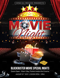 Free Movie Night Flyer Templates Free Movie Night Flyer Template Awesome The Gallery For