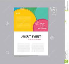 vector event brochure template design stock vector image  vector event brochure template design