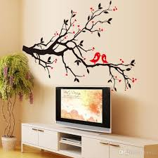 tree branch birds love wall sticker tree vinyl wall decal stickers home decoration wall art kids bedroom wall stickers kids removable wall decals from