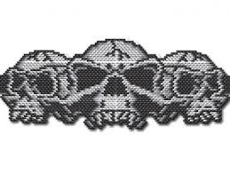 Brick Stitch Patterns Classy BEADING PATTERN Halloween Skull Trio Bracelet In Brick Stitch Or