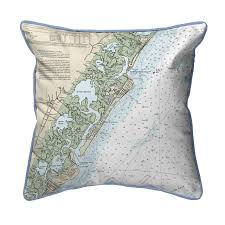 Little Egg Inlet To Hereford Inlet Avalon New Hampshire Nautical Chart 22 X 22 Pillow