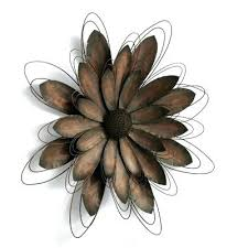 metal flower decoration wall art amazing four flowers metal wall art decor metal wall decor intended