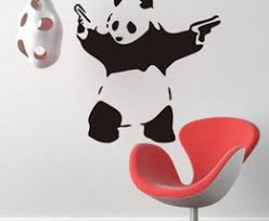 diy wall sticker balloon girl and kung fu panda pvc decals wholesale removable vinyl wall art stickers for home car show window bar office on panda wall art uk with shop panda wall sticker decal uk panda wall sticker decal free