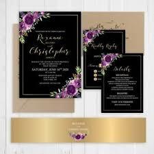 Black And Purple Invitations