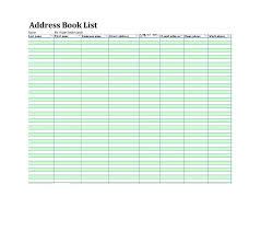 Address Book Printable Template
