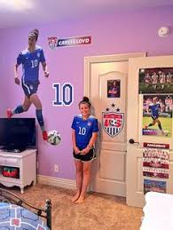 Bedroom designs for girls soccer Quotes Boys Soccer Bedroom Soccer Room Decor Girls Soccer Gymnastics Girls Girls Bedroom Bedroom Ideas Carli Lloyd Daughters Room Sports Stars Pinterest 60 Best Soccer Bedroom Ideas Images Girls Bedroom Bedroom Ideas