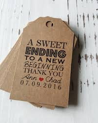 thank you tags for wedding favors favor tags with bakers twine thank you tags a sweet ending tag