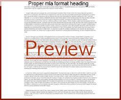 proper mla format heading proper mla format heading homework help