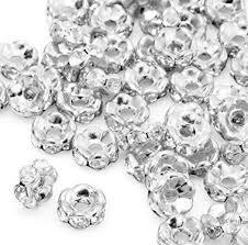 6mm 8mm <b>10mm</b> 12mm <b>100pcs</b>/<b>lot</b> Wave White <b>Clear</b> Czech Glass ...