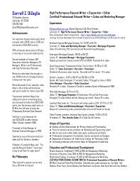 Writing Resume Services Elegant Chicago Resume Services Eczalinf