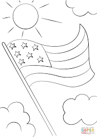 Cartoon USA Flag coloring page | Free Printable Coloring Pages