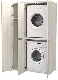 Pouvoir dissimuler la machine à laver parmi les meubles d'une cuisine intégrée. Colonne Compartiment Accessoires Avec Portes Pour Machine A Laver Seche Linge En Bois Differentes Couleurs Egalement Sur Mesure Buanderie De Salle De Bain Blanc Meleze Amazon Fr Cuisine Maison